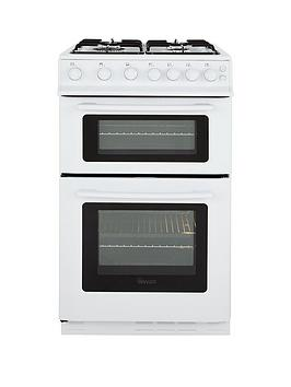 Swan Sx2071W 50Cm Wide Freestanding Twin Cavity Gas Cooker  White