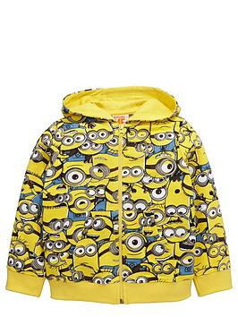 minions-boys-printed-zip-throughnbsphoodie