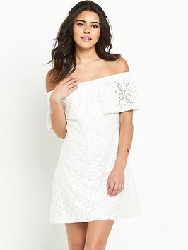 river-island-lace-bardot-swing-dress