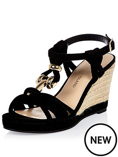 river-island-snake-knot-trim-wedge-sandal