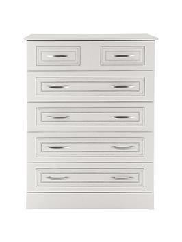 Consort Dorchester Ready Assembled 4  2 Chest Of Drawers