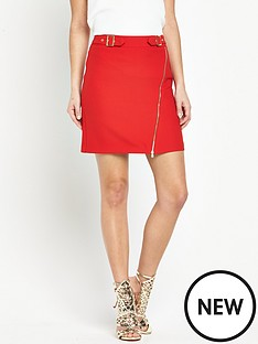 v-by-very-buckle-detail-mini-skirt