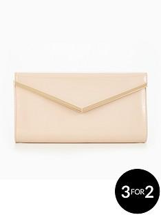 v-by-very-patent-v-bar-clutch-bag