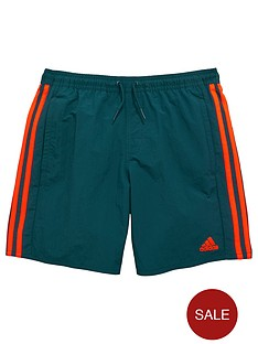 adidas-youth-boys-three-stripes-swim-shorts
