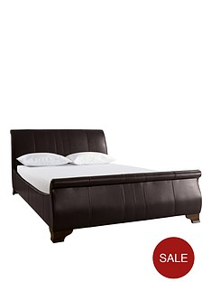 franklin-faux-leather-bed-frame-with-optional-mattress-and-next-day-delivery