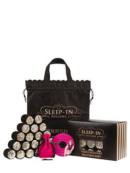 sleep-in-rollers-black-glitter-set
