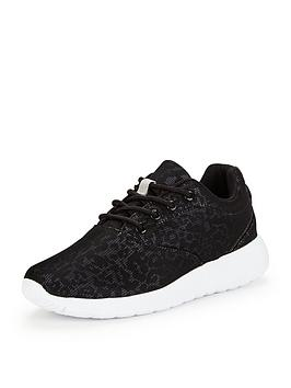 V By Very Jessie Older Girls Mesh Print Trainers