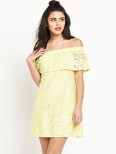 river-island-lace-bardot-dress
