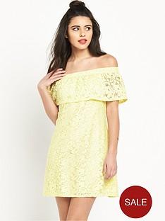 river-island-lace-bardot-dress