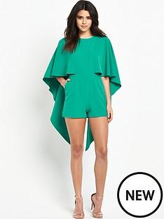 lavish-alice-open-tie-back-cape-playsuit