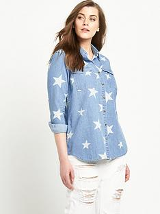 alice-you-star-print-denim-shirtnbsp