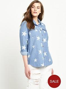 alice-you-star-print-denim-shirtnbsp