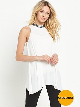 v-by-very-high-neck-embellished-blouse