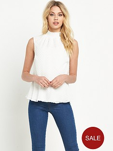 v-by-very-sleeveless-dobbynbspblouse