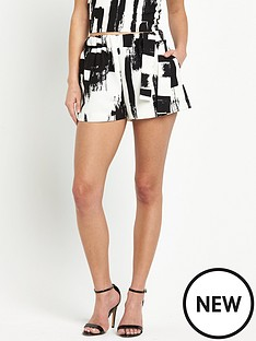lavish-alice-brush-print-tie-sidenbspshorts