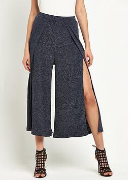 lavish-alice-rib-knit-split-side-culottes