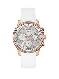 guess-guess-white-dial-chronograph-rose-detailing-white-silicone-strap-ladies-watch