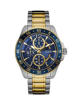 guess-guess-blue-dial-two-tone-stainless-steel-mens-bracelet-watch