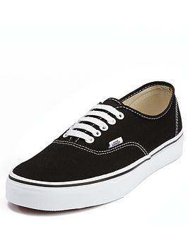 2592df0c33ceb Vans Authentic Plimsolls - Black/White | littlewoods.com