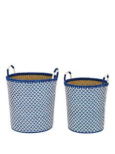 set-of-2-laundry-hampers-blue