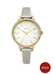 oasis-oasis-white-glossy-dial-mink-pu-strap-ladies-watch