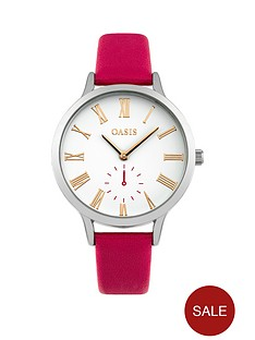 oasis-oasis-white-dial-pink-pu-strap-ladies-watch
