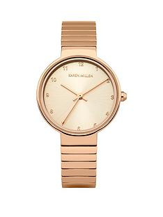 karen-millen-light-rose-gold-sunray-dia