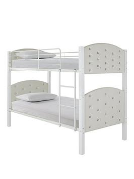 Ellie Bunk Bed   Bunk Bed Frame With 2 Premium Mattresses
