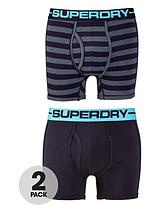 Superdry 2pk stripe/plain boxer