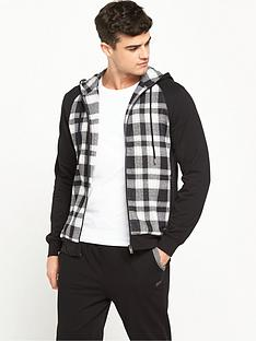 hugo-boss-check-hooded-top