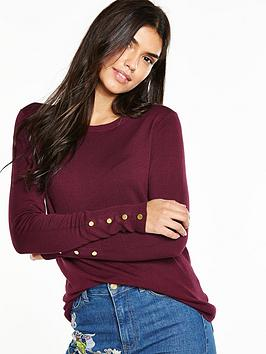 v-by-very-crew-neck-gold-button-cuff-jumpernbsp