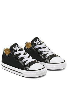 Converse All Star Ox Toddler Infant Plimsolls  Black