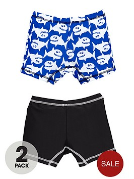 mini-v-by-very-boys-cartoon-shark-swim-trunks-2-pack