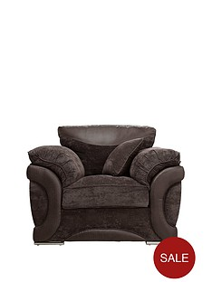 maze-fabric-and-faux-leather-chair