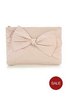 v-by-very-suedette-knot-bow-clutch-bag