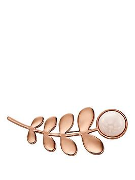 orla-kiely-rose-gold-plated-leaf-and-stone-brooch