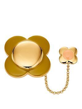orla-kiely-rose-gold-plated-flower-brooch