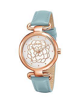 folli-follie-santorini-rose-gold-case-with-light-blue-leather-strap-ladies-watch