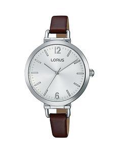 lorus-lorus-brown-leather-strap-ladies-watch
