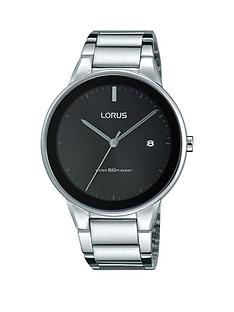 lorus-lorus-white-bracelet-sunray-black-dial-mens-watch