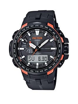 Casio Casio Pro Trek Orange Highlight Grey Mens Watch