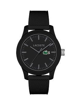 Lacoste Lacoste 12.12 Black Dial Black Strap Unisex Watch