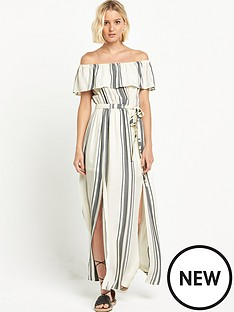 river-island-stripe-bardot-maxi-dress