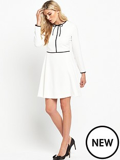ted-baker-long-sleeve-tie-neck-dressnbsp