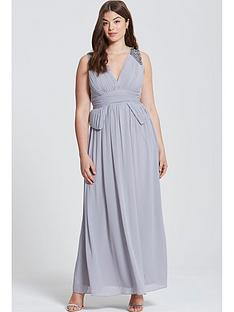 little-mistress-curve-curve-plunge-peplum-maxi-dress
