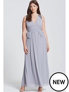 little-mistress-curve-curve-plunge-peplum-maxi-dress