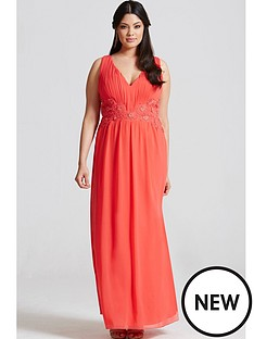 little-mistress-curve-lace-waist-maxi-dress