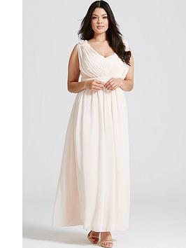 little-mistress-curve-corsage-plunge-maxi-dress
