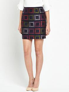 ted-baker-horticultural-check-mini-skirt-navy