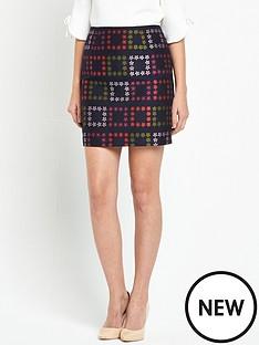ted-baker-horticultural-check-mini-skirt-navy